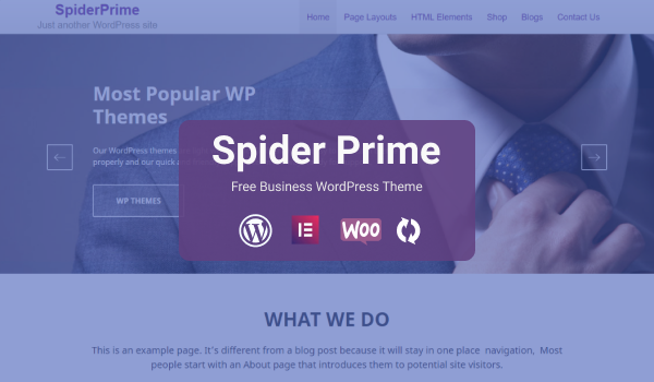SpiderPrime - Free WordPress MultiPurpose Business Theme