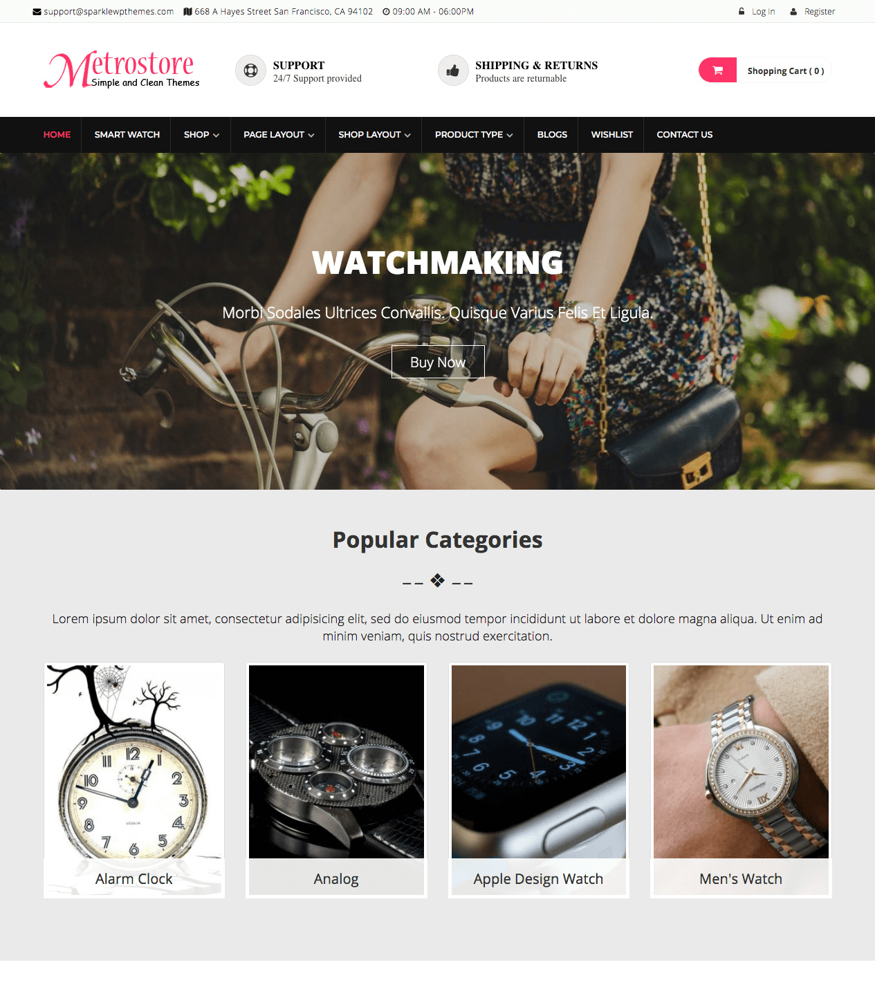 Sparkle Theme-MetroStore-watch