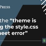 Stylesheet Missing Error