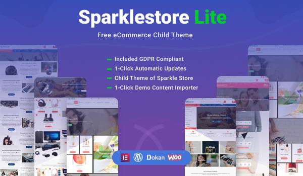 SparkleStore Lite - Free eCommerce WordPress Theme For eStore