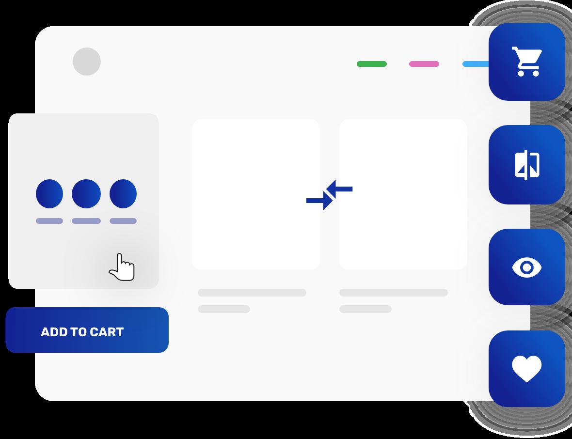 Ajax cart, Wishlist, Compare, Quickview