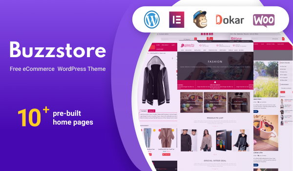 BuzzStore - Free eCommerce WordPress Theme For Online Store