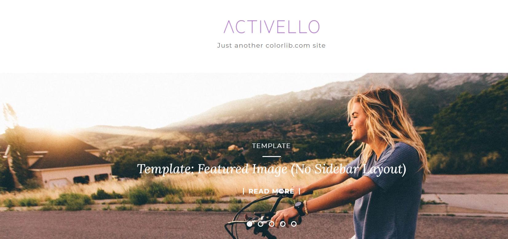 activello wordpress theme for blogs