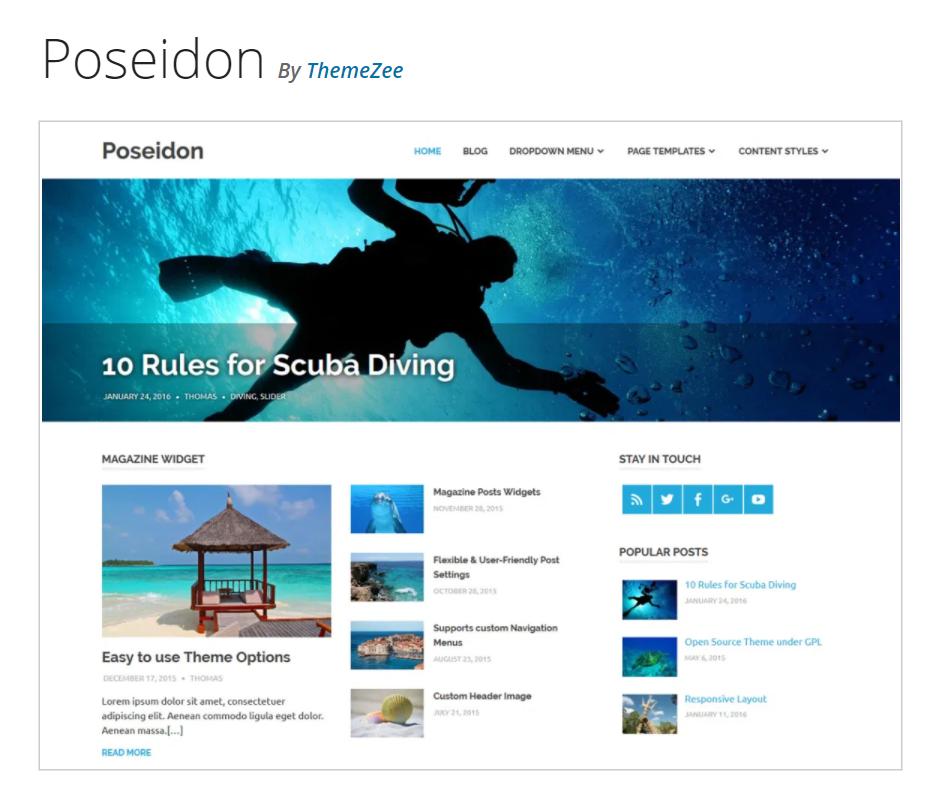 Poseidon magazine blog theme