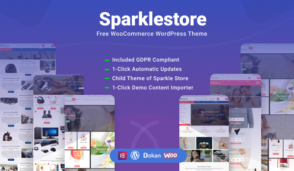 SparkleStore - Best Free eCommerce Theme On WordPress