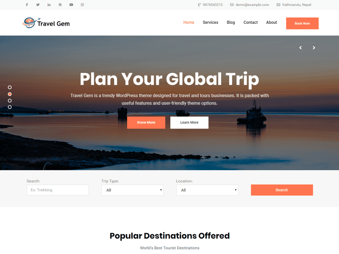 theme for travel planner