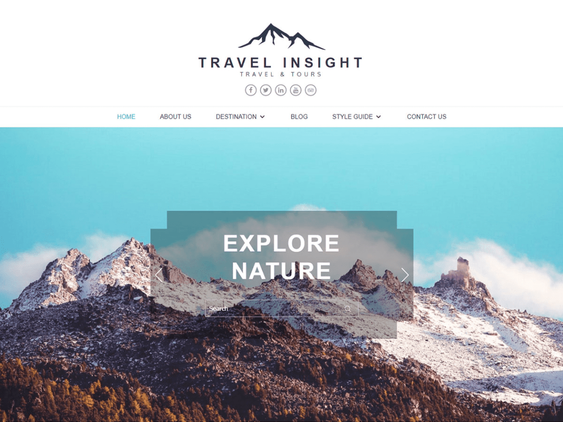 Travel insight theme for travellers