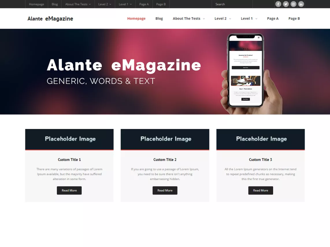 alante news magazine theme