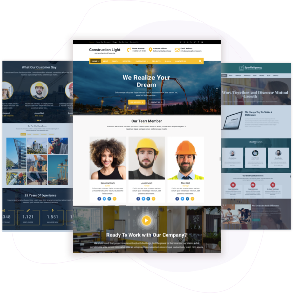 Construction Light – Free Construction WordPress Theme