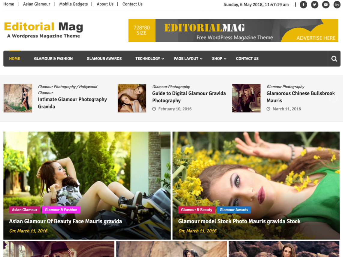 Editorial theme by sparkle themes