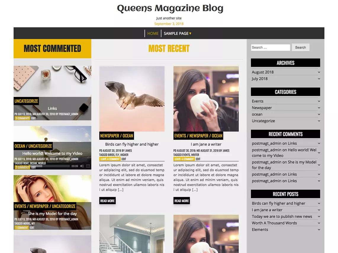 Queens magazine blog