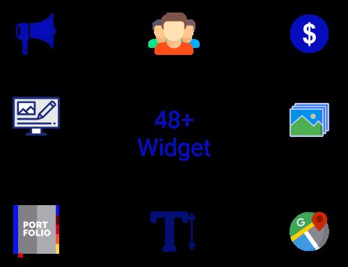 48+ Widgets