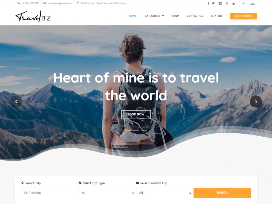 travelbiz theme
