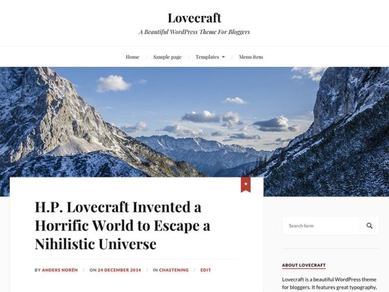 lovecraft for blogger and writer