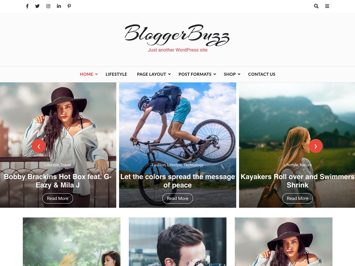 Blogger buzz wordpress theme