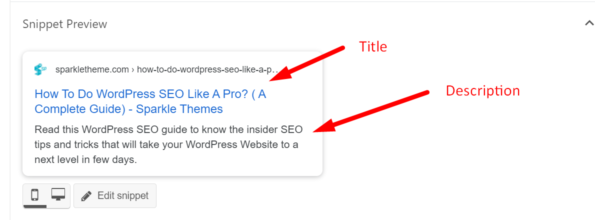 SEO title optimization