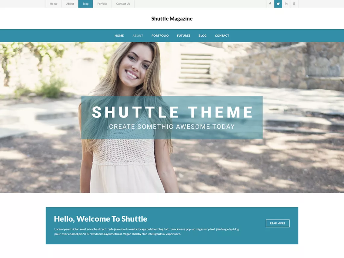 shuttle magazine theme