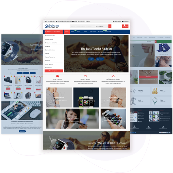 SparkleStore Pro – Best Premium eCommerce Theme on WordPress