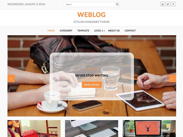 Best Free Blog themes weblog