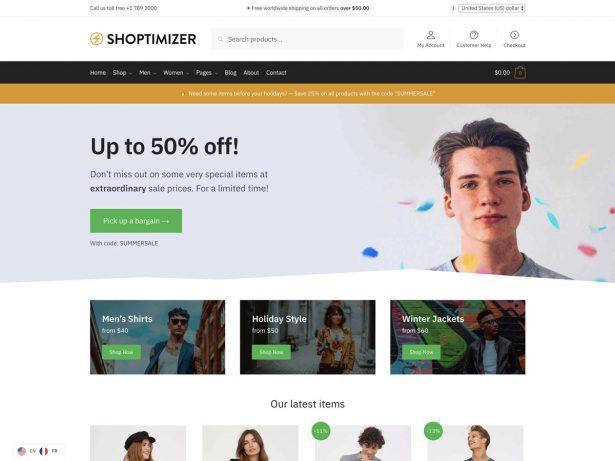 shoptimizer ecommerce wordpress themes