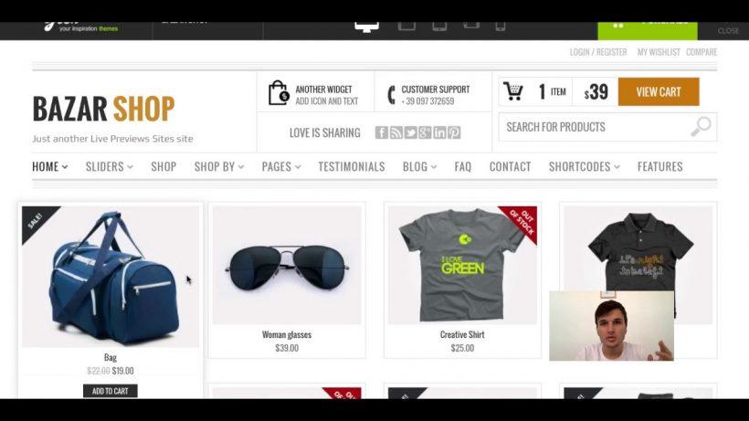 bazar shop ecommerce wordpress themes