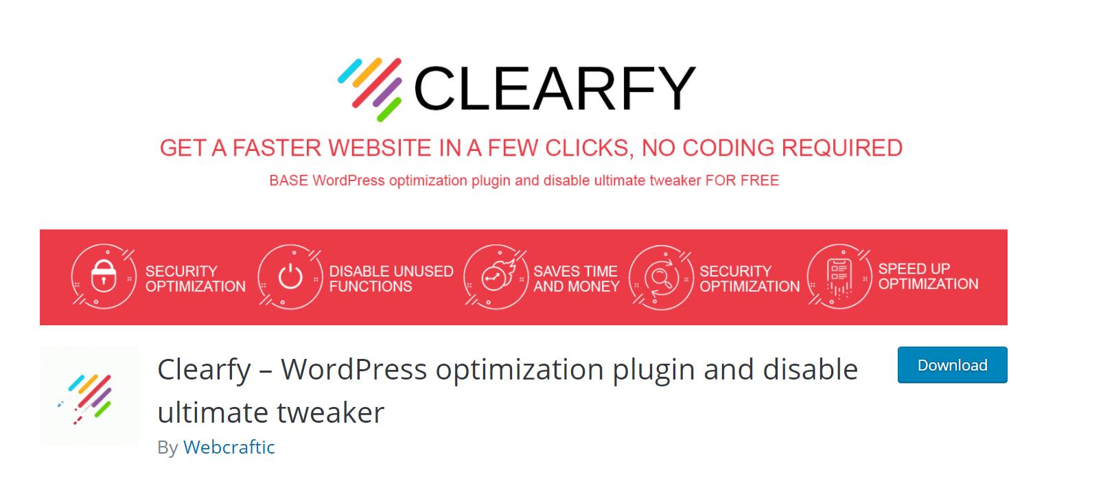 clearfy plugin