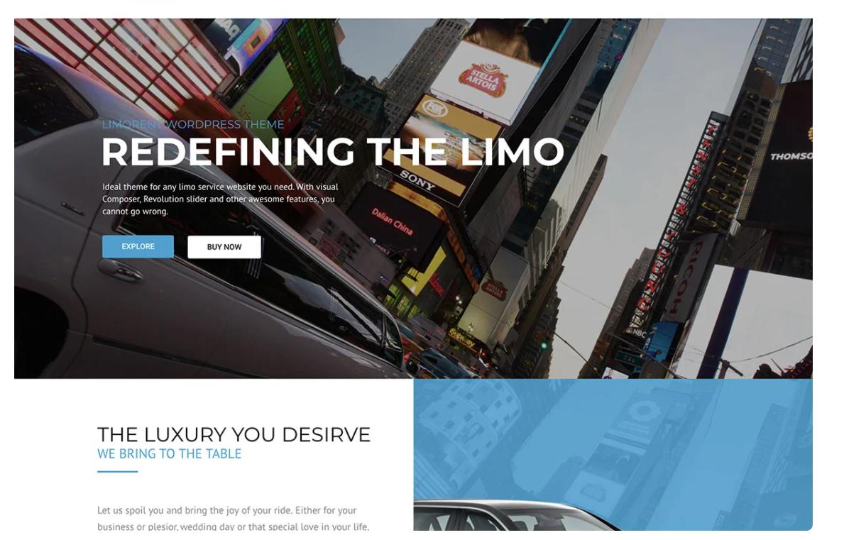 limo rent car rental theme