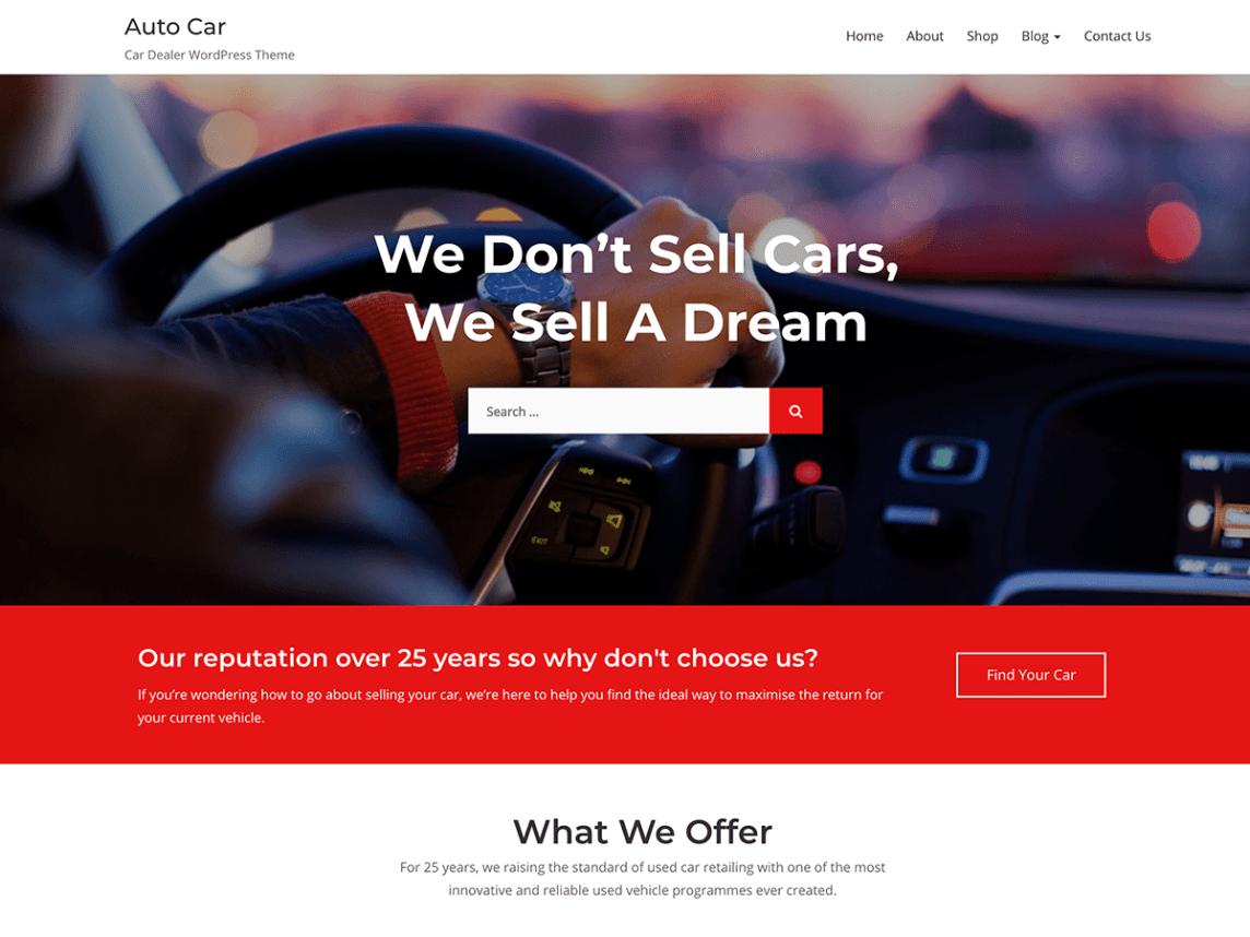 car rental theme wordpress