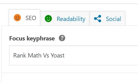 keyword assigning yoast