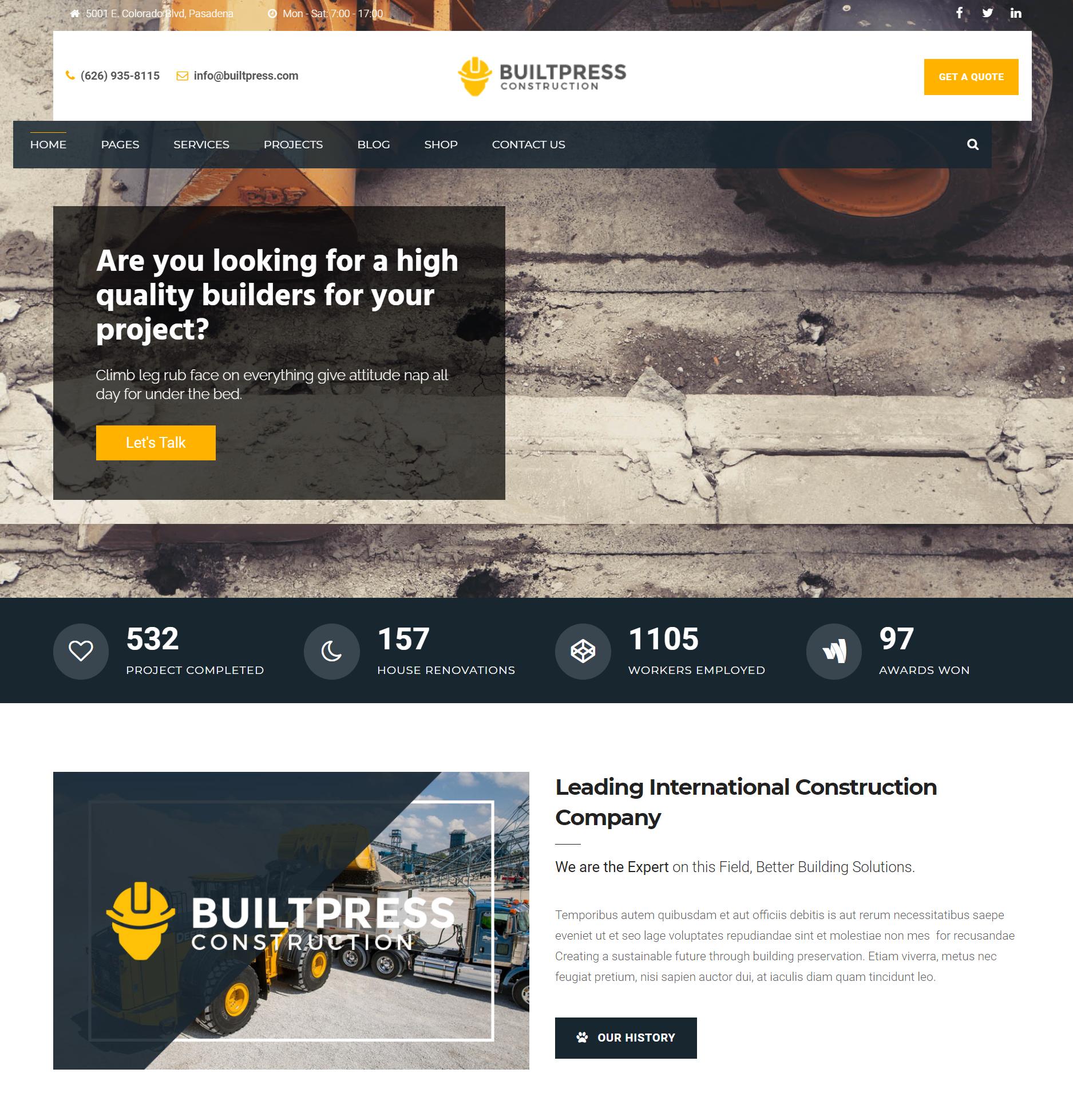 builtpress premium theme