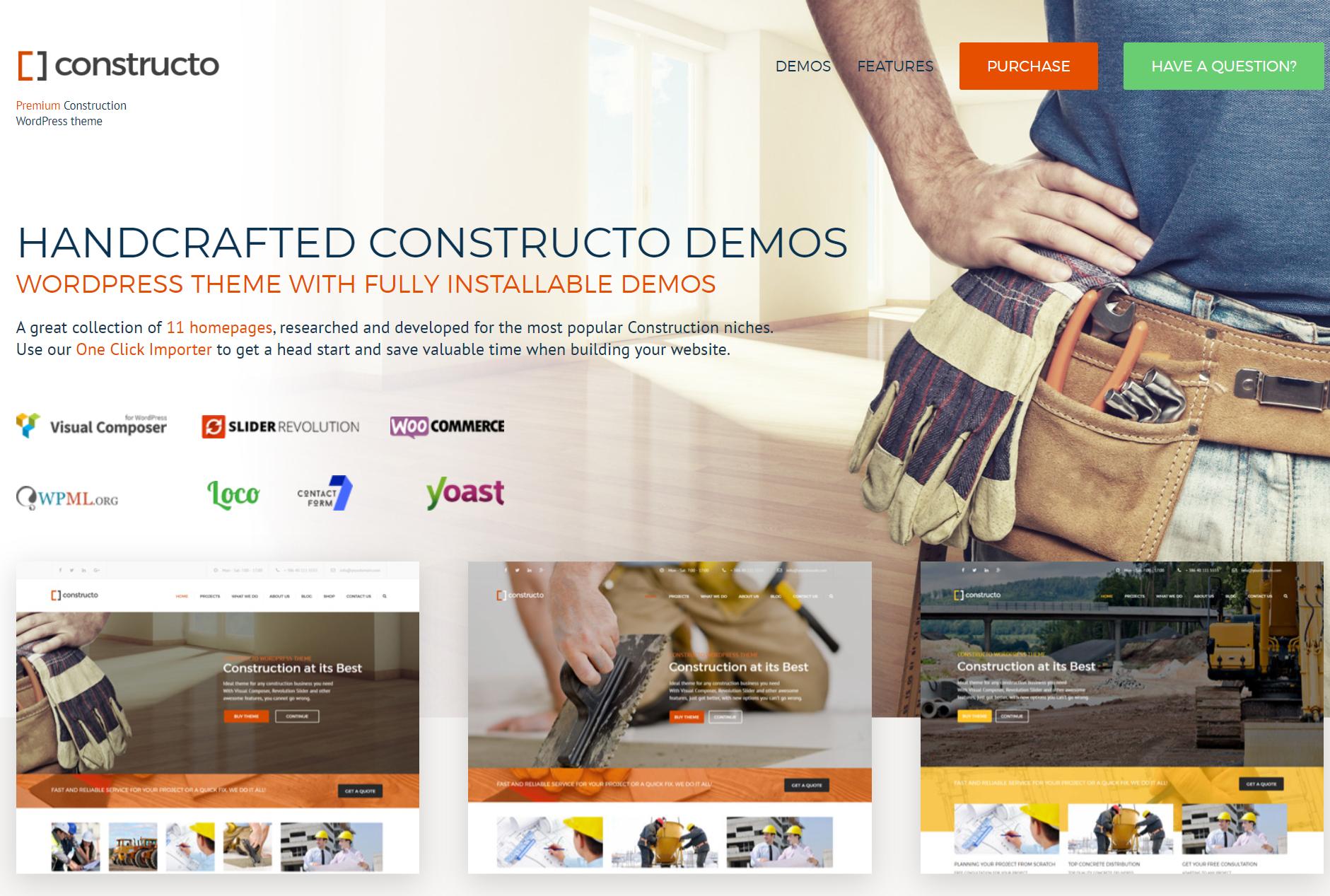 Constructo Premium WordPress Construction theme