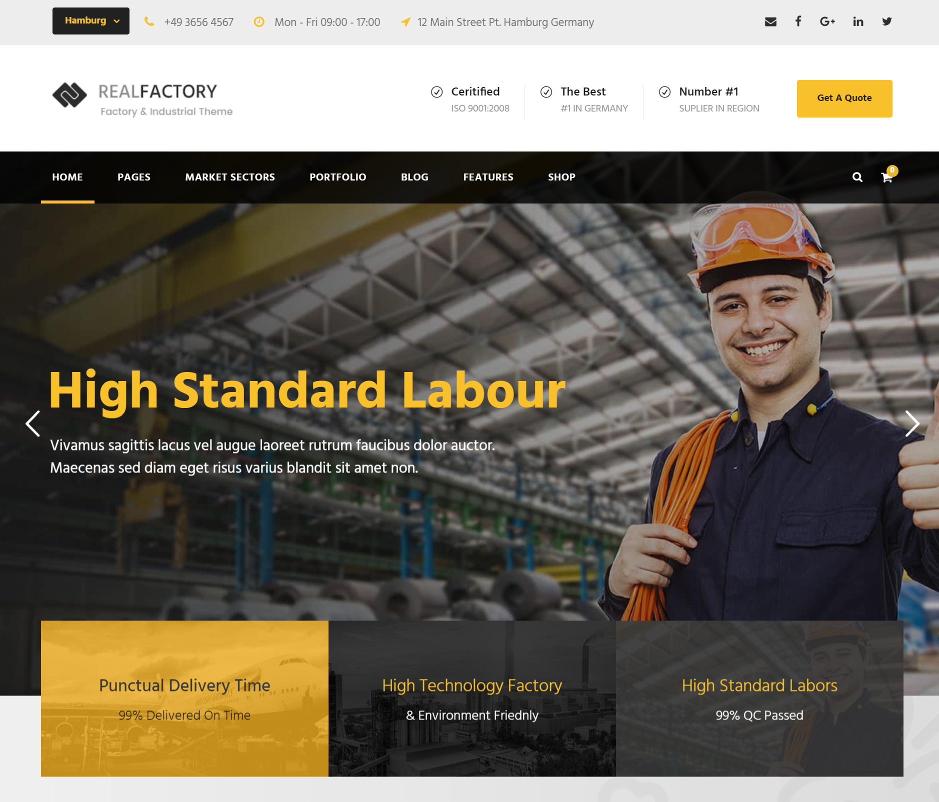 real factory construction premium theme for factory