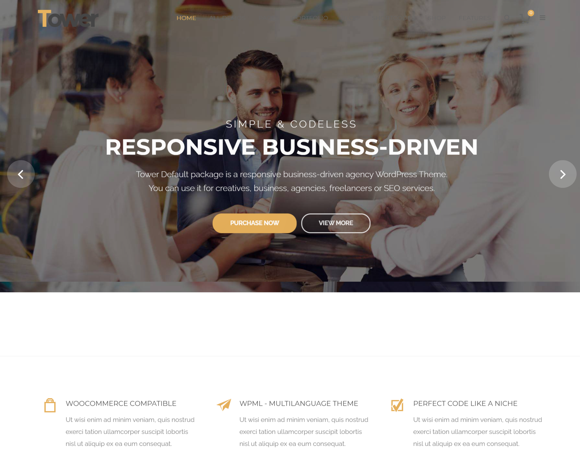 tower premimum wordpress theme for construction busienss